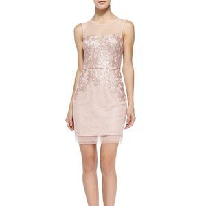 Dusty Pink ABIGAIL SEQUINED COCKTAIL DRESS